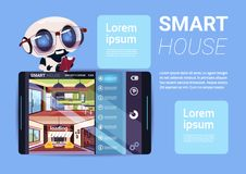 Smart House Interface On Digital Tablet, Modern Technology Of Home Management Concept. Flat Vector Illustration Royalty Free Stock Photos