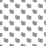 Smart house lock pattern seamless stock illustration