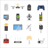 Smart house remote control electronic gadgets Stock Photography