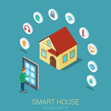 Smart house remote control isometric concept Stock Photo