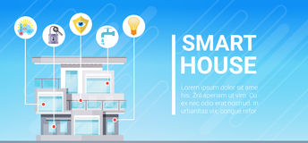 Smart House Technology Control System Icon Infographic With Copy Space Royalty Free Stock Image
