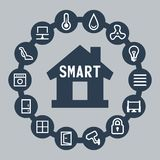 Smart house. Vector icons set Stock Photo