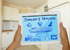 smart hus fotografering för bildbyråer