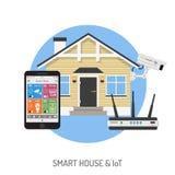 Smart hus och internet av saker Arkivfoton