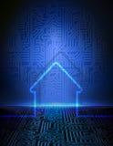 Smart husabstrakt begreppbakgrund royaltyfri illustrationer