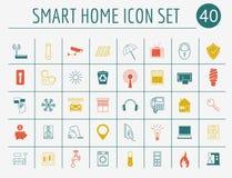Smart husbegrepp Vektor i CMYK-funktionsläge Plan stildesign royaltyfri illustrationer