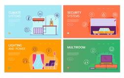 Smart husl?genhetbegrepp stock illustrationer