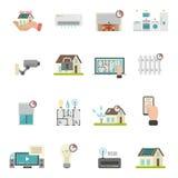 Smart hussymbolsuppsättning royaltyfri illustrationer