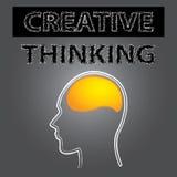 Smart idérikt hjärna för tänka Arkivbild