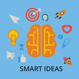 Smart, ideas. Brain, creation and idea icons and elements Royalty Free Stock Photo
