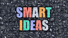 Smart Ideas Concept with Doodle Design Icons. Royalty Free Stock Images