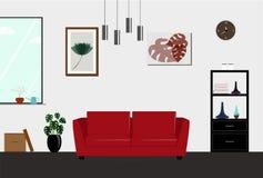 Smart illustration för färg för klockavektorsilver i plan stil Arkivfoton