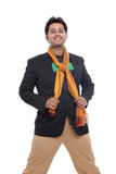 Smart Indian young man smiling Royalty Free Stock Photo