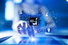 Smart industry. Industrial and technology innovation. Modernization and automation concept. Internet. IOT. Smart industry. Industrial and technology innovation Royalty Free Stock Photography