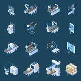 Smart Industry Isometric Icons royalty free illustration
