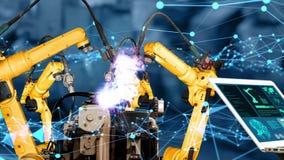 Smart industry robot arms modernization for innovative factory technology