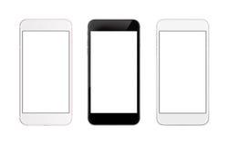 smart isolerad telefon Isolerad skärm för främre sida för modell Royaltyfri Fotografi