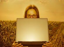 smart jordbruks- tekniker Royaltyfria Foton