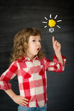 Smart kid. In class. Idea concept royalty free stock photo