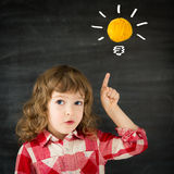 Smart kid. In class. Idea concept stock photos