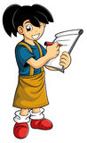 Smart kid make a note Stock Photography