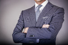Smart klädde mannen i dräkt Royaltyfria Foton