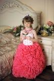 smart klänningflicka royaltyfria bilder