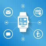 Smart klocka för affär vektor illustrationer