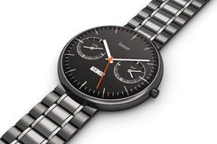 Smart klocka för svart lyx stock illustrationer