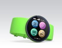 Smart klocka på grå bakgrund Royaltyfri Foto