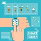 Smart klockakonditionbogserare Arkivbild