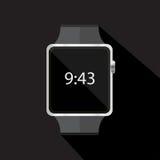 Smart klockasymbol också vektor för coreldrawillustration Fotografering för Bildbyråer