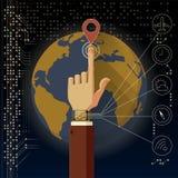 Smart klockateknologi Arkivbilder