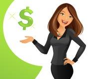 smart lady stock illustrationer