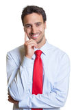 Smart latin businessman with red tie Royalty Free Stock Photos