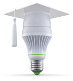Smart led light bulb Stock Photography