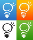 Smart Light Bulb. An illustration of a business company logo representing a light bulb and smart concept behind it Royalty Free Stock Photo