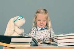 Smart little girl Stock Images