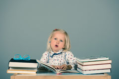 Smart little girl Royalty Free Stock Photography