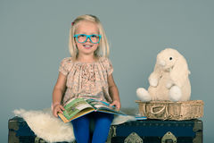 Smart little girl Royalty Free Stock Images