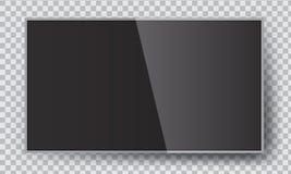 Smart llevó la ejecución de la TV en la pared Maqueta del ejemplo del vector stock de ilustración