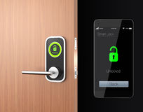 Smart lock concept with clipping path. original design Royalty Free Stock Photography