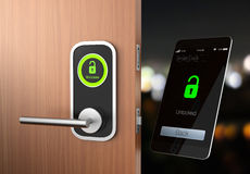 Smart lock concept with clipping path. original design.  Stock Photo