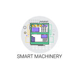 Smart Machinery Industrial Automation Industry Production Icon. Vector Illustration royalty free illustration
