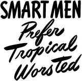 Smart Men Prefer Tropical Stock Images