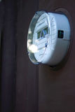 Smart Meter 1. An american,digital electric utility meter installed on a home. A Smart Meter Royalty Free Stock Image