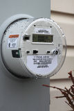 Smart Meter. Newly installed residential smart meter for electricity from Pepco Power Company during a rainy day royalty free stock image