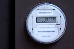 Smart Meter 3. An american, digital electric utility meter showing numbers. A Smart Meter Royalty Free Stock Images