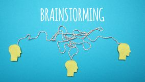 Smart mind, discussion, team on brainstorm royalty free stock photo