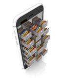 Smart mobil 3d Royaltyfri Foto